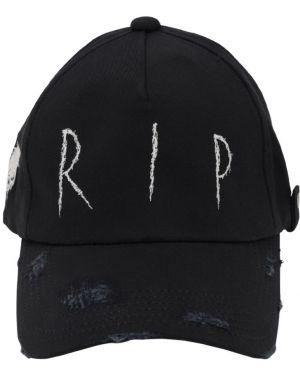 Czarny kapelusz z haftem Azs Tokyo