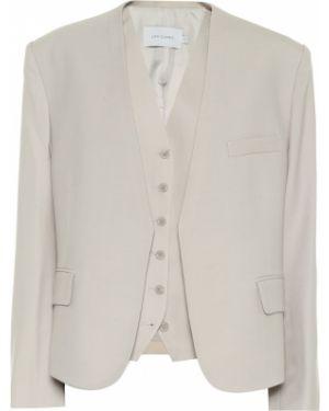 Классический пиджак шерстяной на пуговицах Low Classic