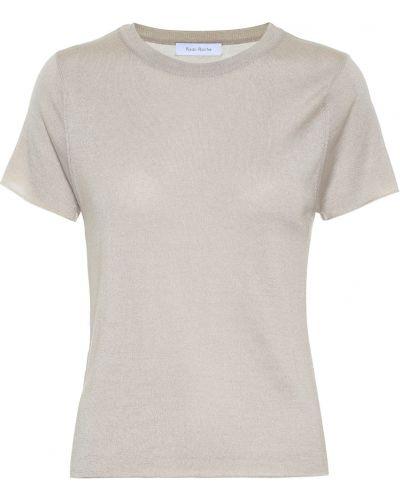 Облегченная серая кашемировая рубашка Ryan Roche