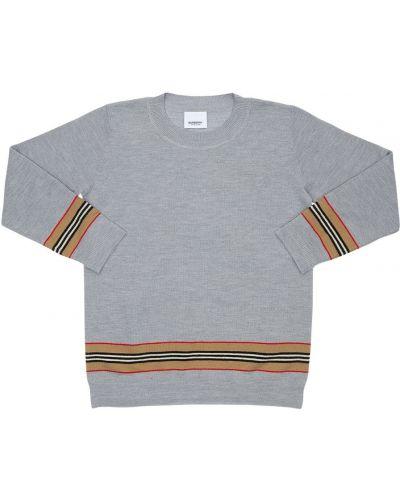Wełniany sweter z kołnierzem z mankietami Burberry