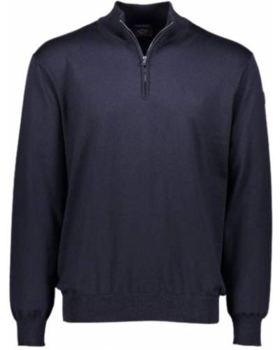 Z merynosa sweter z zamkiem błyskawicznym Paul & Shark