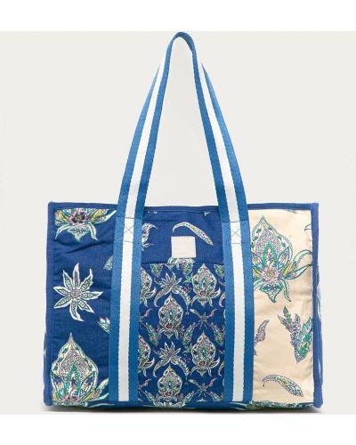 Niebieska torebka duża bawełniana Desigual