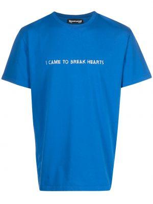 Niebieska t-shirt z printem Nasaseasons