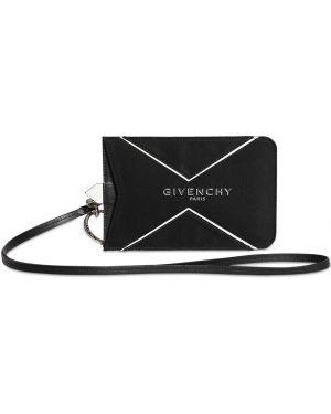 С ремешком ключница из натуральной кожи с тиснением Givenchy