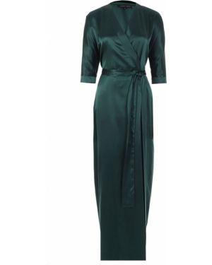 Шелковое платье макси - зеленое Alexander Terekhov