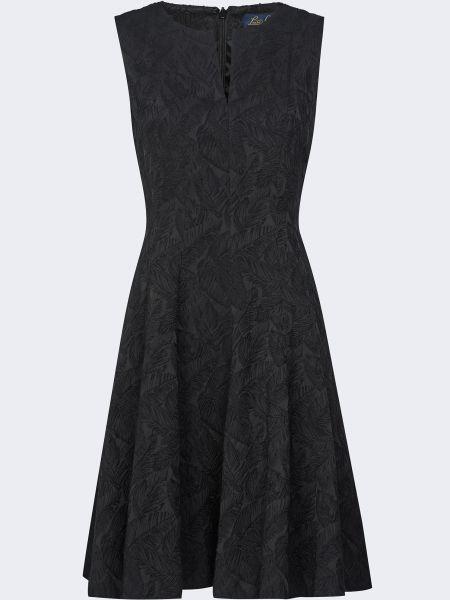 Хлопковое черное платье с подкладкой Luisa Spagnoli