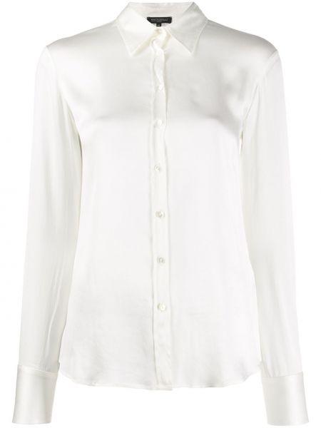 Рубашка с длинным рукавом белая в полоску Antonelli
