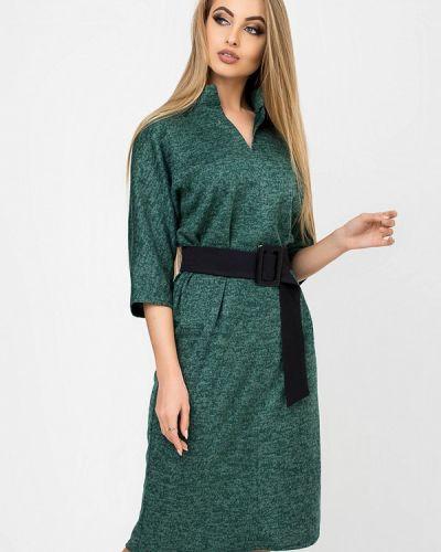 Платье осеннее зеленый Leo Pride