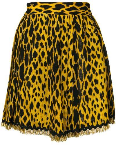 Юбка мини леопардовая винтажная Versace Vintage