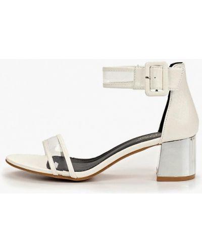 Босоножки на каблуке прозрачные кожаные Sergio Todzi