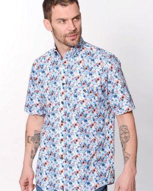 С рукавами хлопковая рубашка с короткими рукавами Casa Moda