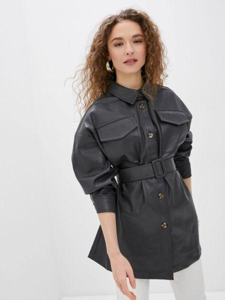Кожаная куртка весенняя серая Sela