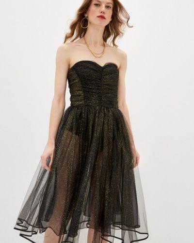 Черное вечернее платье Elisabetta Franchi