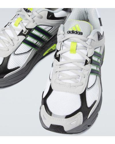 Кожаные белые кроссовки сетчатые Adidas Originals