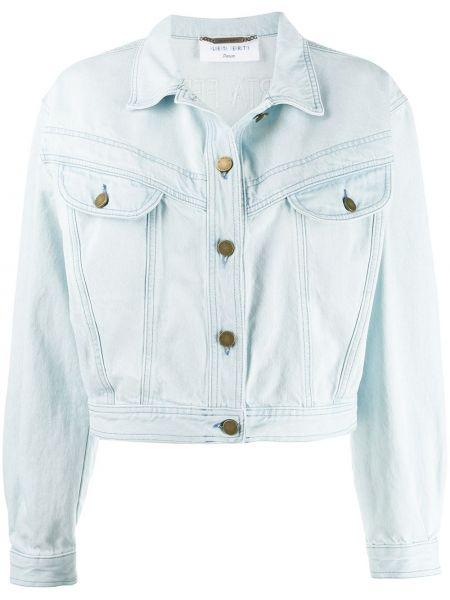 Джинсовая куртка на пуговицах укороченная Alberta Ferretti