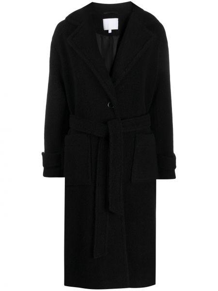 Черное пальто с капюшоном Lala Berlin