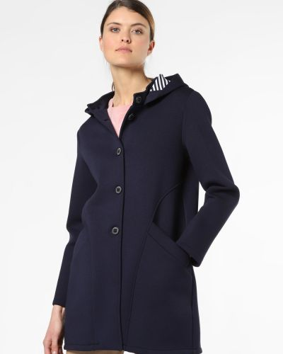 Niebieski płaszcz z kapturem Amber & June