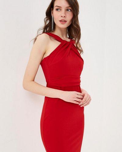 Платье весеннее красный City Goddess