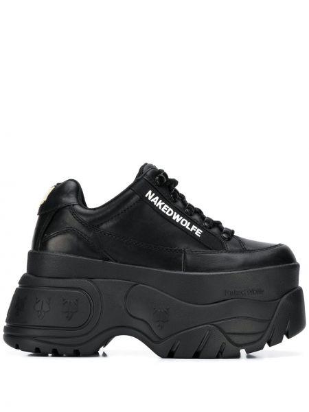 Кожаные кроссовки - черные Naked Wolfe
