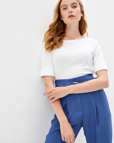 С рукавами белая футболка Lauren Ralph Lauren