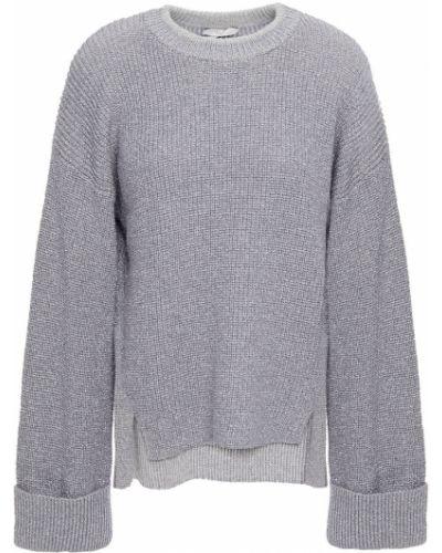 Серебряный кашемировый вязаный свитер Joie
