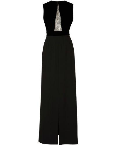 Ażurowa czarna sukienka z wiskozy Givenchy