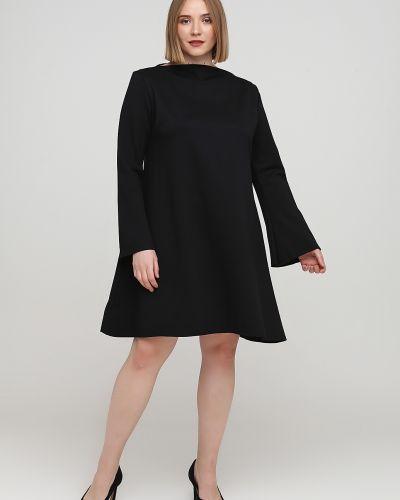 Свободное черное платье макси свободного кроя Makadamia