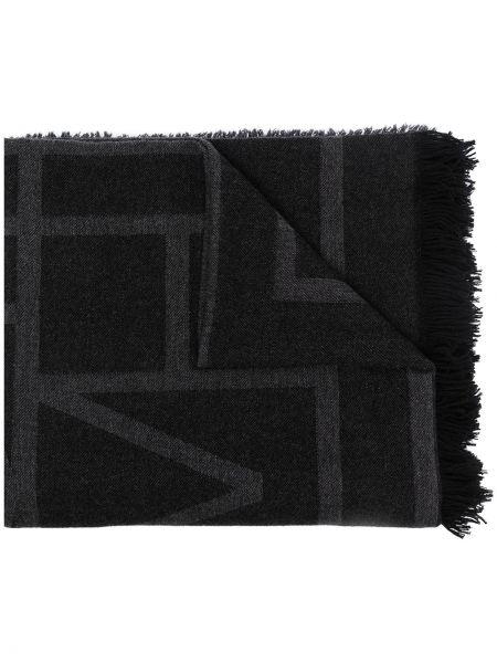 Шерстяной шарф - черный Toteme