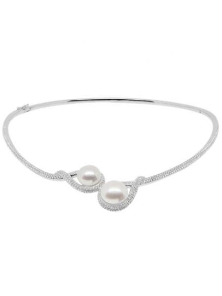 Ожерелье с жемчугом - серебряное Apm Monaco