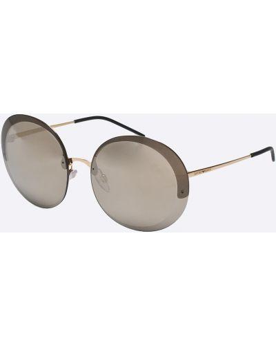 Солнцезащитные очки круглые металлические Emporio Armani