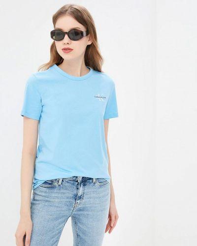 Футболка голубой Calvin Klein Jeans