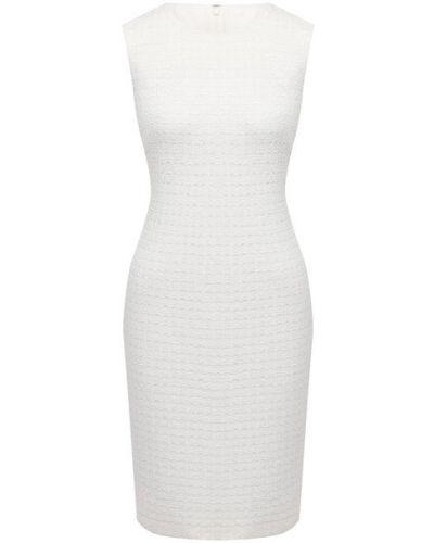 Белое платье из вискозы St. John