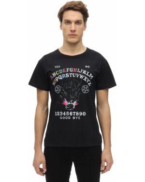 Prążkowany czarny t-shirt Passarella Death Squad