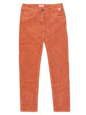 Bawełna pomarańczowy bawełna spodnie rozciągać Il Gufo