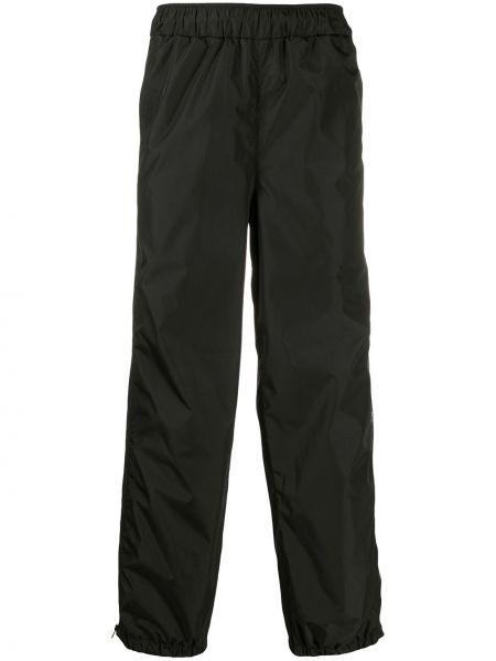 Czarne spodnie z wysokim stanem bawełniane Mcq Alexander Mcqueen