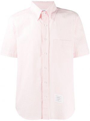 Koszula krótkie z krótkim rękawem z kołnierzem z kieszeniami Thom Browne
