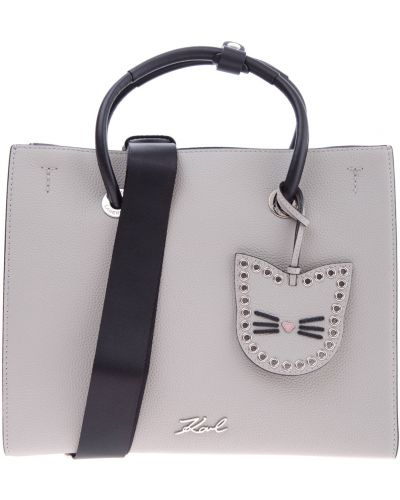 Сумка шоппер на руку кожаный Karl Lagerfeld
