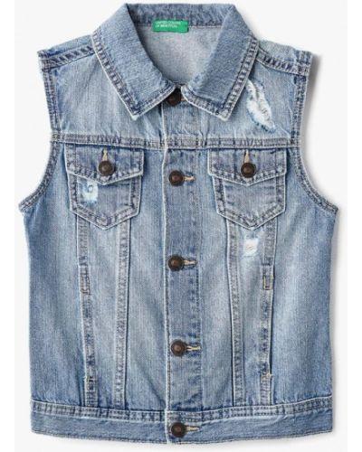 Синяя жилетка джинсовая United Colors Of Benetton