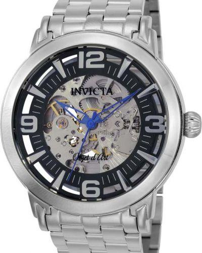 Серебряные часы механические Invicta