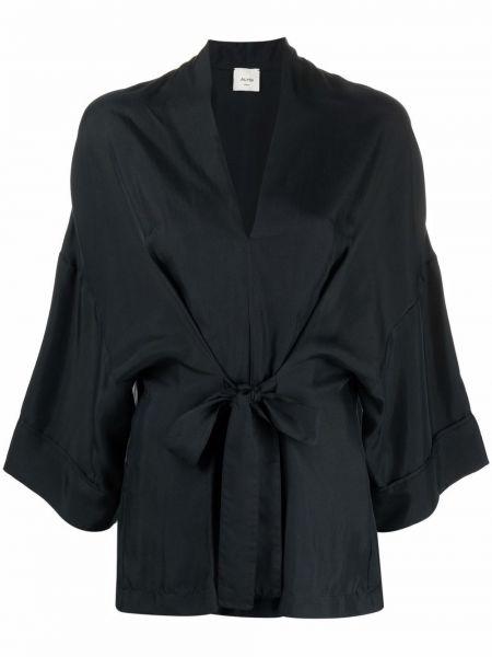 Черная блузка с V-образным вырезом Alysi