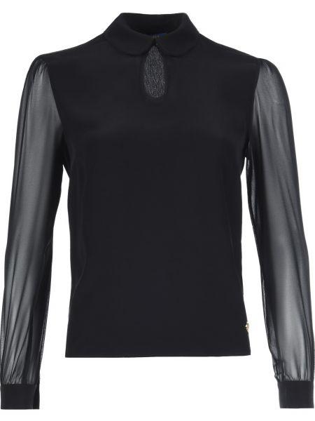 Блузка из вискозы черная Trussardi Jeans