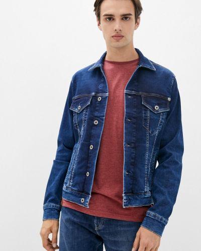 Синяя зимняя куртка Pepe Jeans