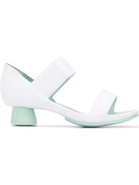 С ремешком белые кожаные сандалии Camper