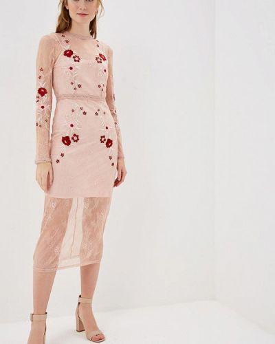 Вечернее платье розовое весеннее Vila