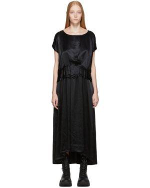 Платье макси плиссированное через плечо Ann Demeulemeester