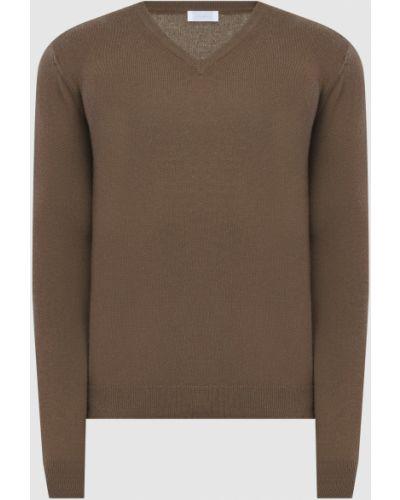Кашемировый пуловер - зеленый Malo