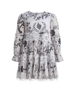 Платье серое велюровое Gulliver Wear