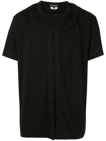 Koszula krótkie z krótkim rękawem prosto czarna Comme Des Garcons Homme Plus