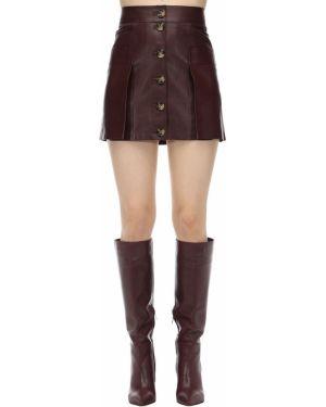 Кожаная юбка с завышенной талией с разрезом сзади Dodo Bar Or