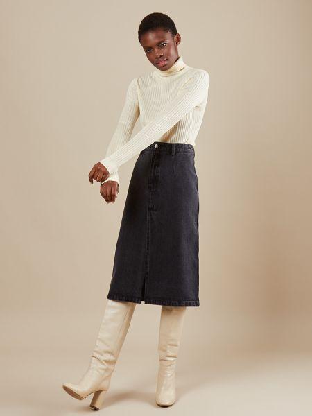 Юбка миди джинсовая с вырезом 12storeez